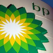 BP logo on refinery cooling tower